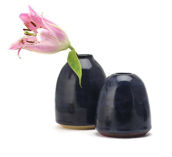 The Midnight Blue couple Vases