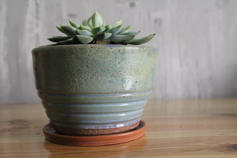 Speckled Green Planter