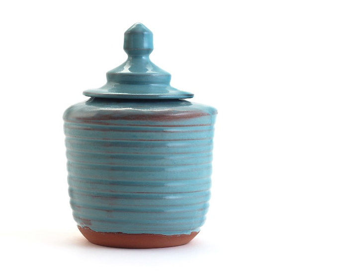 The Lidded Terquse Jar