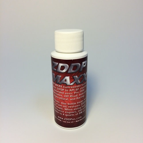 ZDDP MAXX EXTREME PRESSURE AGENT 2oz ENGINE & TRANSMISSION ZINC ADDITIVE