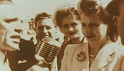 Eva Perón entrevistada por David Cubedo -RNE - Visita a España 1947