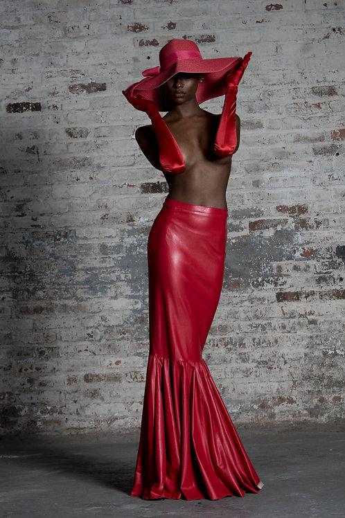 Red Latex Skirt