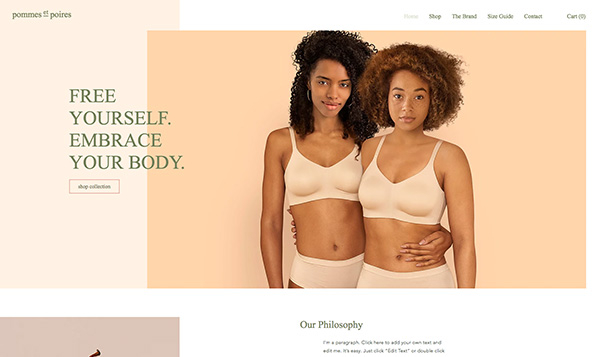 See All Templates website templates – Lingerie Boutique