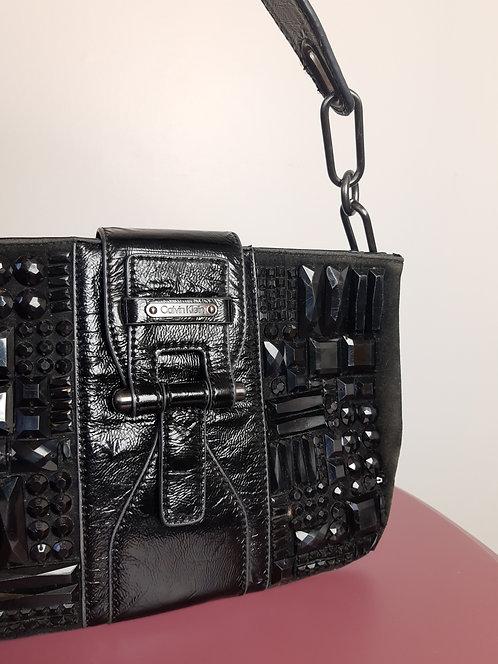 Bolsa de mão couro e vinil