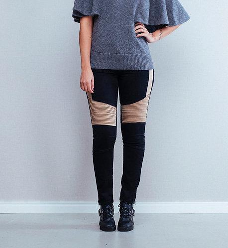 Calça Jeans Skinny Bicolor
