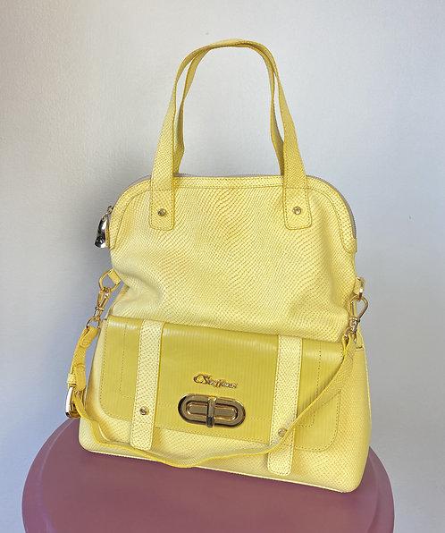 Bolsa couro amarelo