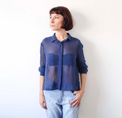 Camisa Azul Transparente