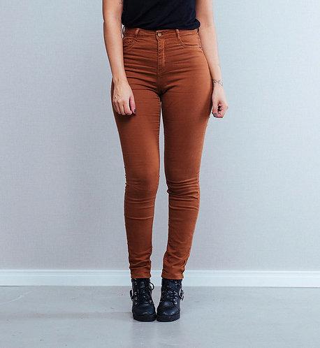 Calça Jeans Skinny Telha