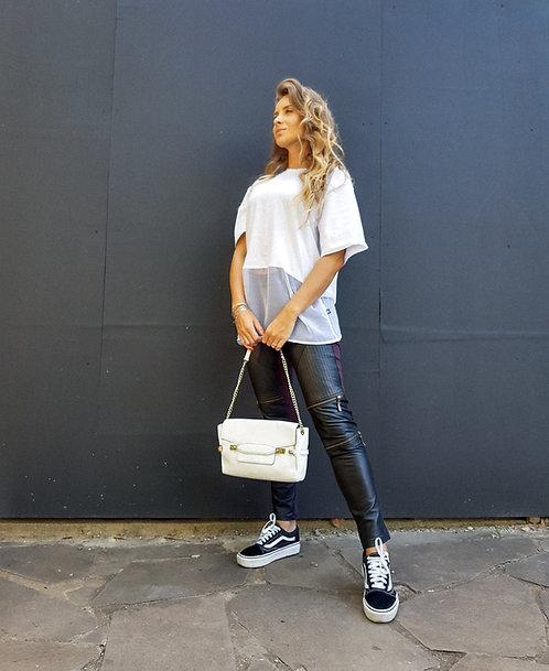 Bolsa couro branca