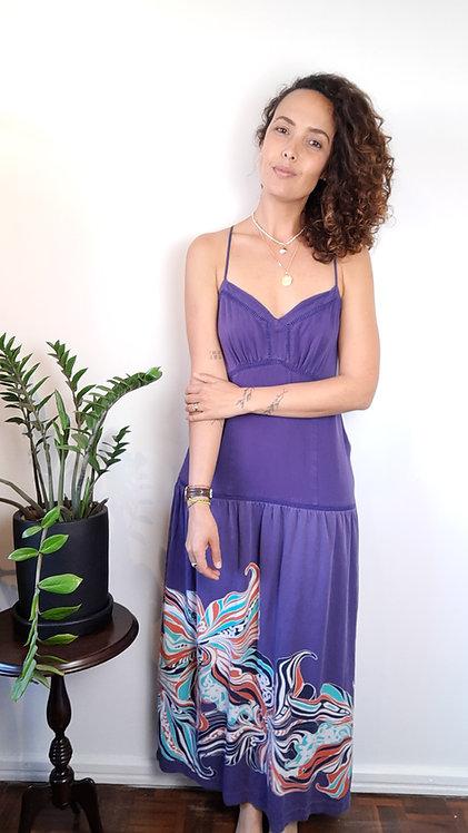 Vestido longo de alcinha