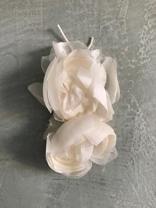 Flor dupla cabelo