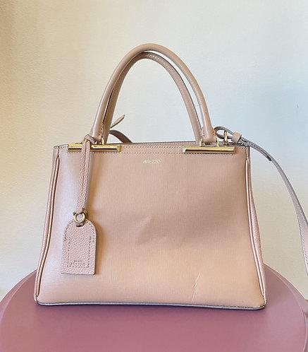 Bolsa couro rosa