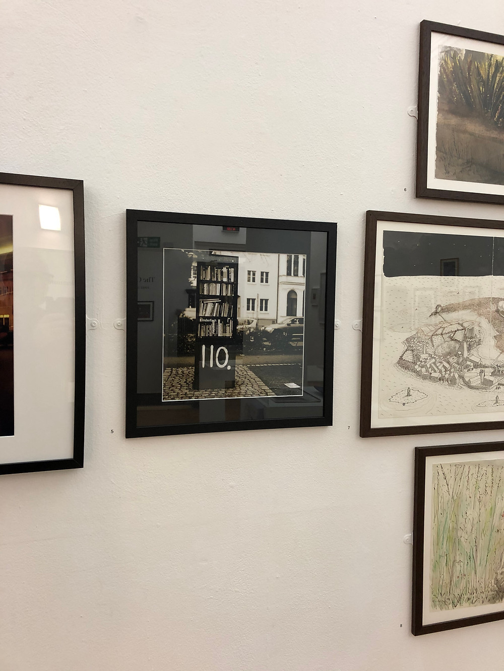 My sepia toned Public Bookshelf print is currently on show at Leeds Arts University, Vernon Street. It's a lovely surprise to have spotted it