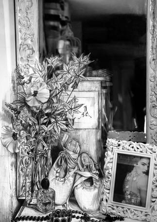 drawing, still life, ballet shoes, aiva grasberga