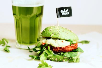 St. Patrick`s Day - Burger mit Avocado-Bun