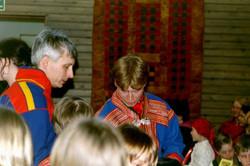 Kuvassa etualalla Toivo West ja Juha Wes