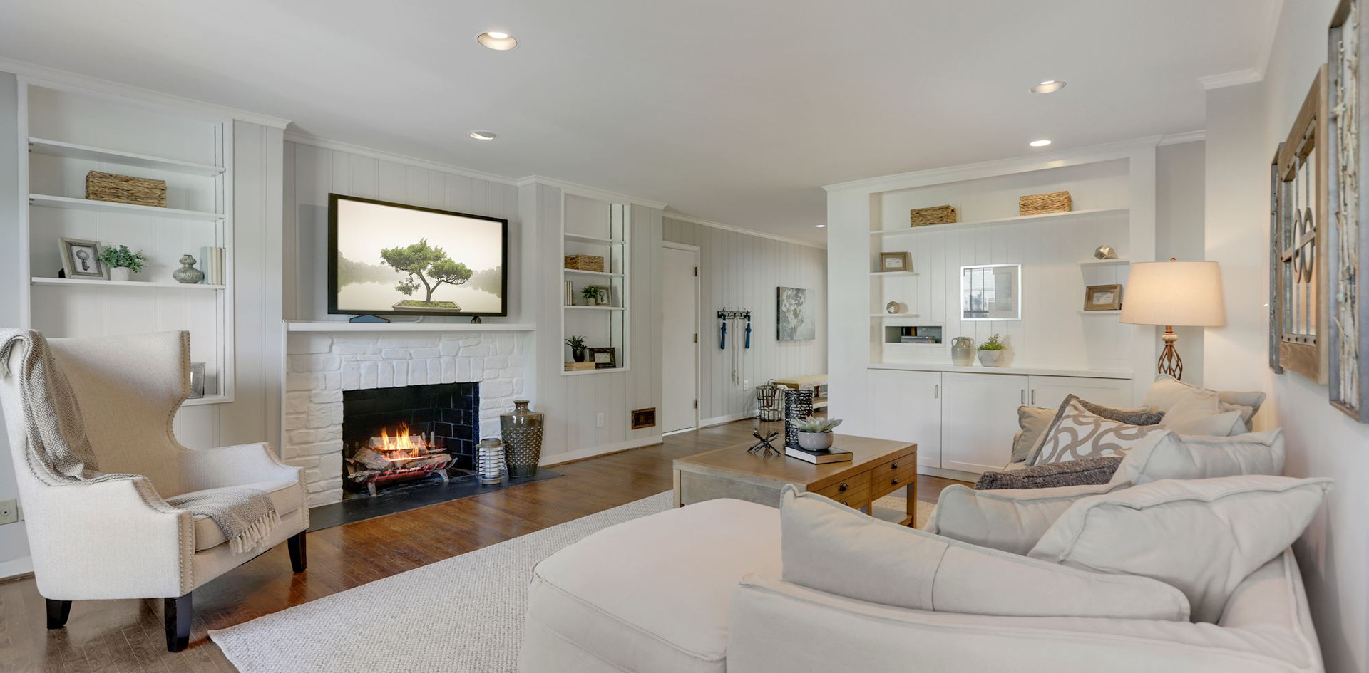 Cozy Family Room with Built-ins