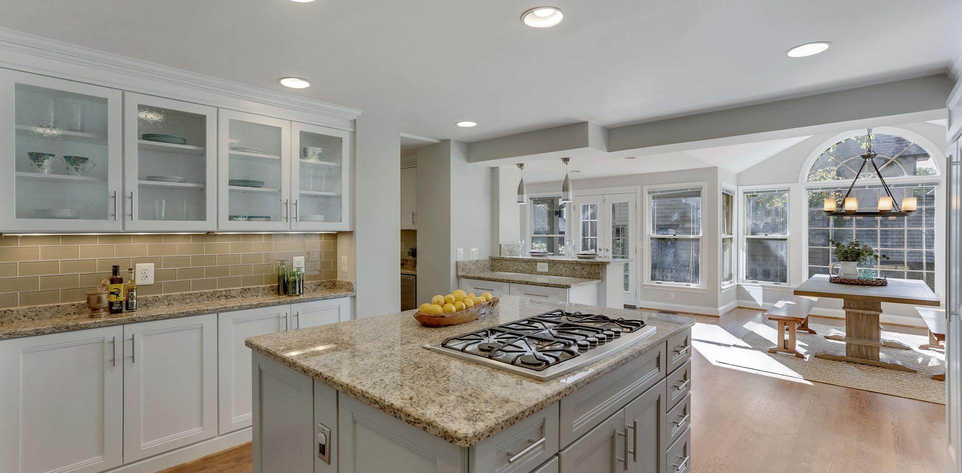 Kitchen Opens to Bright Solarium
