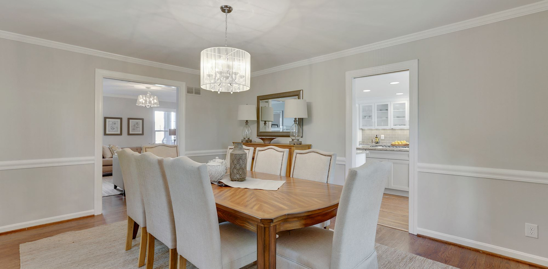Dining Room Leads to the Kitchen