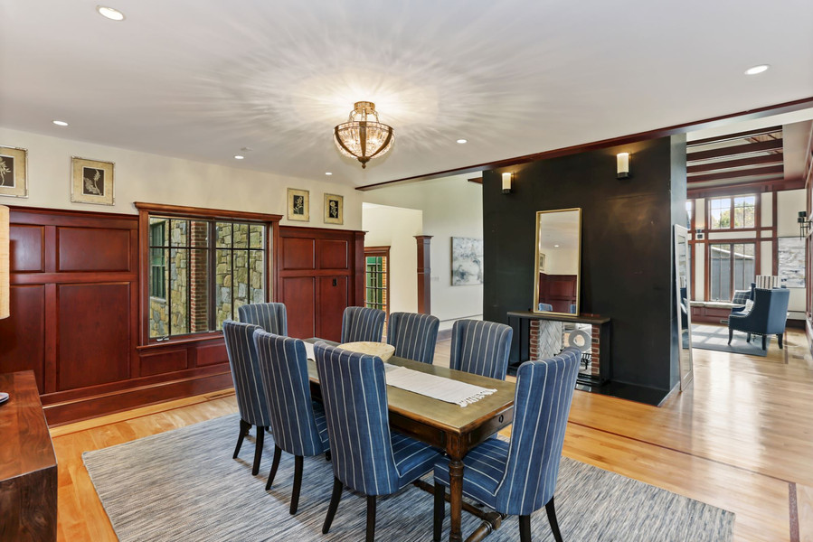 Dining Room with Cherry Paneling