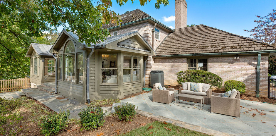Features Two Distinct Flagstone Patios