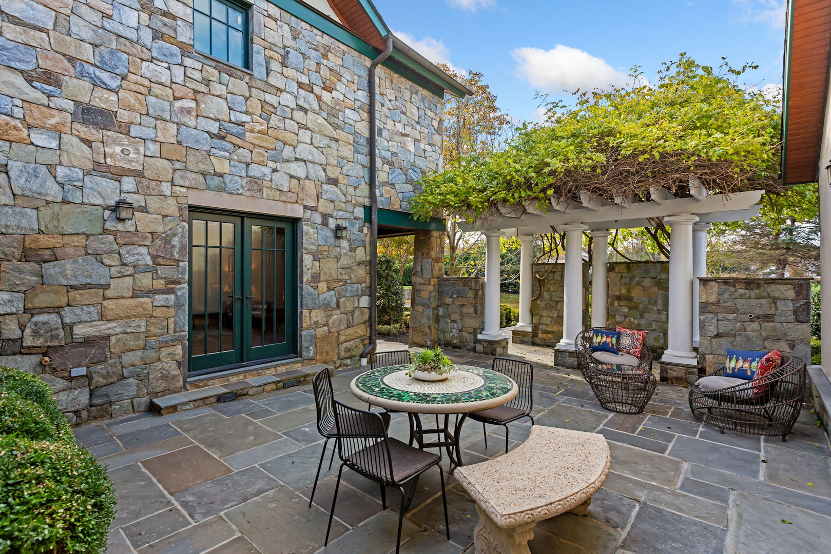 Front Patio with Pegola