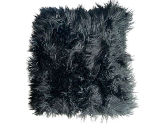 Black Faux Fur Throw Pillows