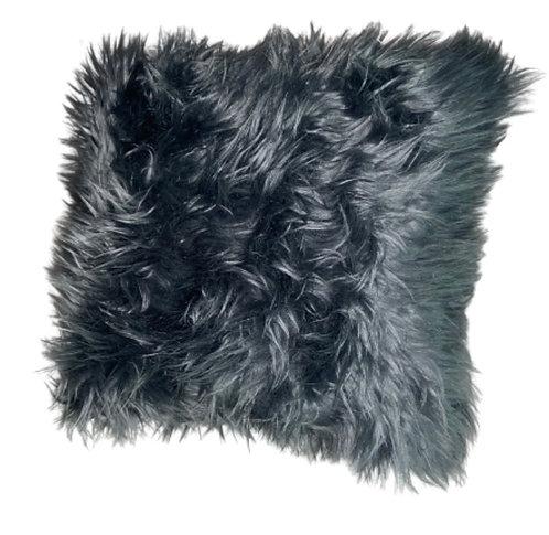 """""""Shadow"""" Handmade Faux Fur Throw Pillow"""