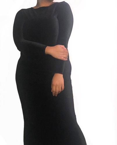 Black Demi Velvet Dress