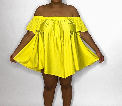 Flirty Off The Shoulder Mini Dress