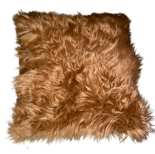 Brown Faux Fur Throw Pillows