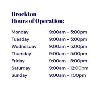 PAB Brockton Hours
