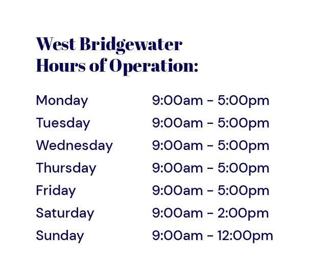 PAB West Bridgewater Hours