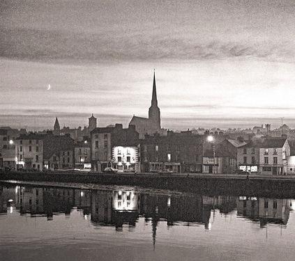 Dusk,Wexford Town, Ireland 1988 by Pádraig Grant
