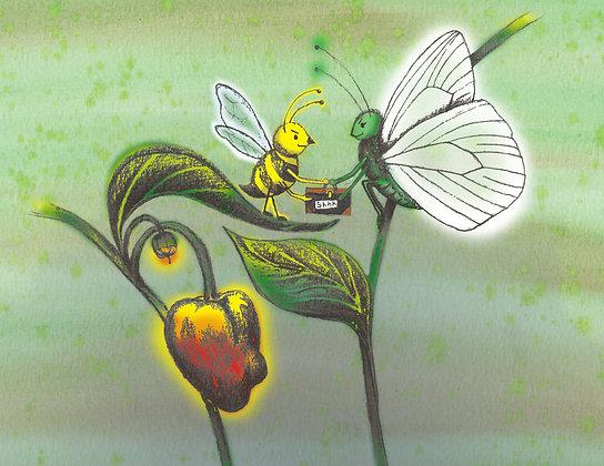 """Card """"Bee"""""""