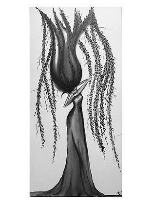 """Card """"Weeping Willow"""""""