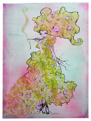 "Print- ""Clematis Pink"" Mother Nature Giclee"