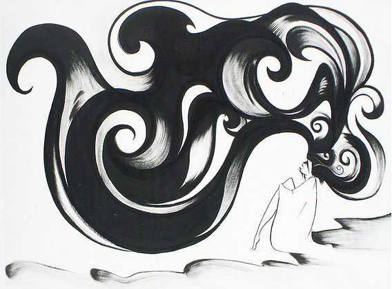 """Print- """"Waves"""" Mother Nature Giclee"""