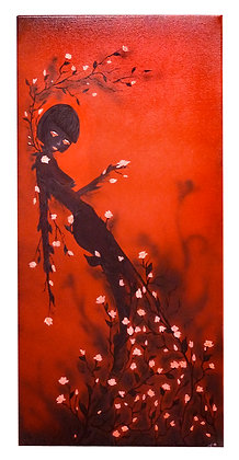 "Print- ""Scarlet Rose"" Mother Nature Giclee"