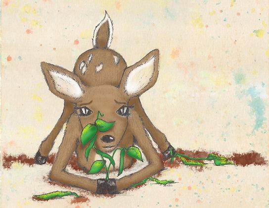 """Card """"Deer"""""""