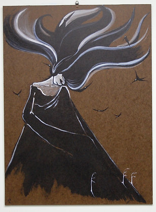 """Print- """"Death"""" Mother Nature Giclee"""