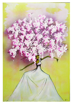 "Print- ""Lilac Bush"" Mother Nature Giclee"