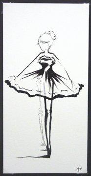 """Card """"Ballerina I"""""""