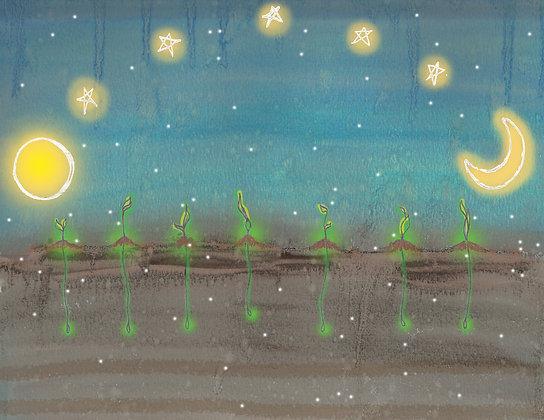 "Card ""Moon & Stars"""