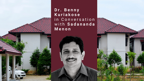The video was directed by Rajesh Abraham in 2008. It highlights some of the important works executed by Benny Kuriakose such as Dakshinachitra. In conversation with the famous art critic Sadanand Menon, he explains the design processes involved and the use of sustainable materials to construct these buildings.