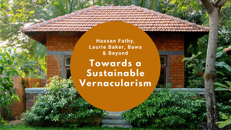 """First sessions of the Webinar series on """"Rethinking Vernacular Architecture: Documentation & Lessons"""" hosted by ICOMOS India National Scientific Committee Vernacular Architecture. The first session is on """"Hassan Fathy, Laurie Baker, Geoffrey Bawa & Beyond; Towards a Sustainable Vernacularism"""" by Dr. Benny Kuriakose.  The relevance of vernacular architecture has increased many times due to climate change and global warming. Fathy, Baker, and Bawa rediscovered some of the forgotten traditions and used them at a time when sustainability was not thought about. The terms used during those days were rural architecture, appropriate architecture, cost-effective architecture, tropical modernism, etc., but had a common thread of vernacular architecture elements in their buildings. They criticized modernism of the international style through their works. All three of them were able to influence a generation of architects in their own regions, but in the present context, the importance of the works of these great architects have increased. Dr. Benny Kuriakose is looking into the works of these three prominent architects of the last century from the perspective of Sustainable Vernacularism."""