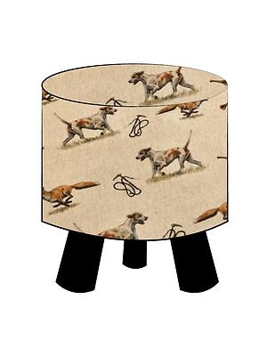Fox & Hound Footstool