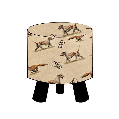 Fox & Hound Footstool