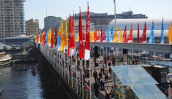 WYD08 Banners, Darling harbour
