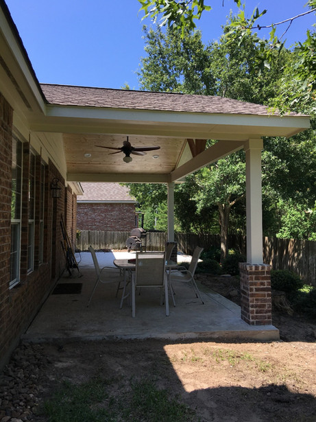 Side View of Patio Installation